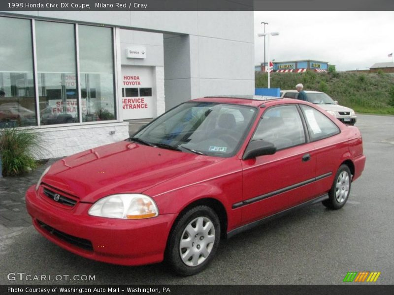 1998 honda civic dx coupe in milano red photo no 12014178 for Honda civic dx 1998