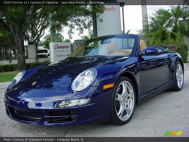 2006 porsche 911 carrera 4s cabriolet in lapis blue. Black Bedroom Furniture Sets. Home Design Ideas