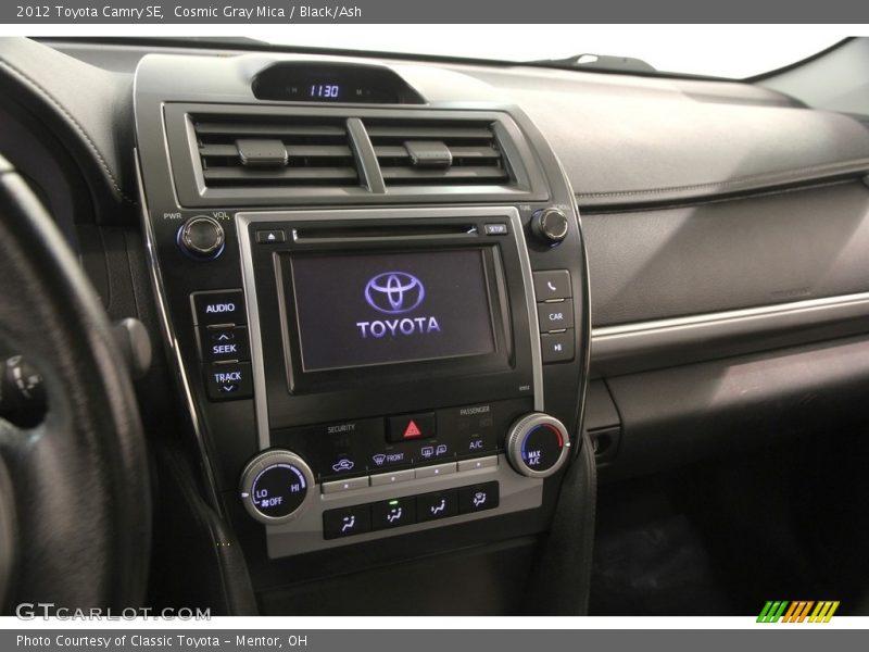 Cosmic Gray Mica / Black/Ash 2012 Toyota Camry SE