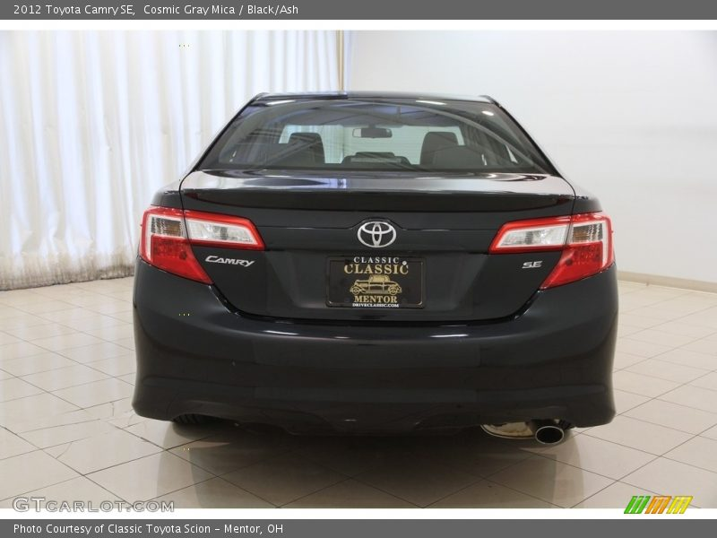 Cosmic Gray Mica / Black/Ash 2012 Toyota Camry SE