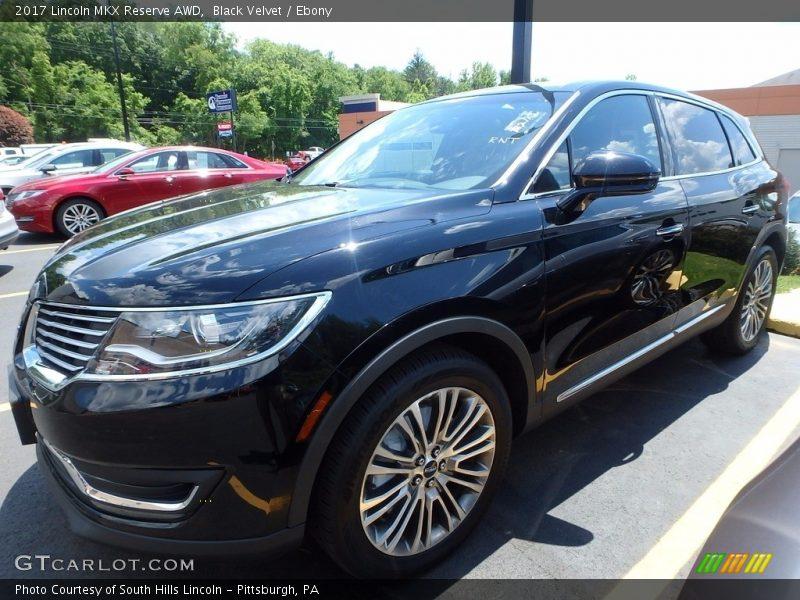 Black Velvet / Ebony 2017 Lincoln MKX Reserve AWD