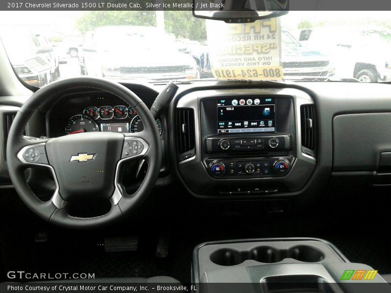 Silver Ice Metallic / Jet Black 2017 Chevrolet Silverado 1500 LT Double Cab