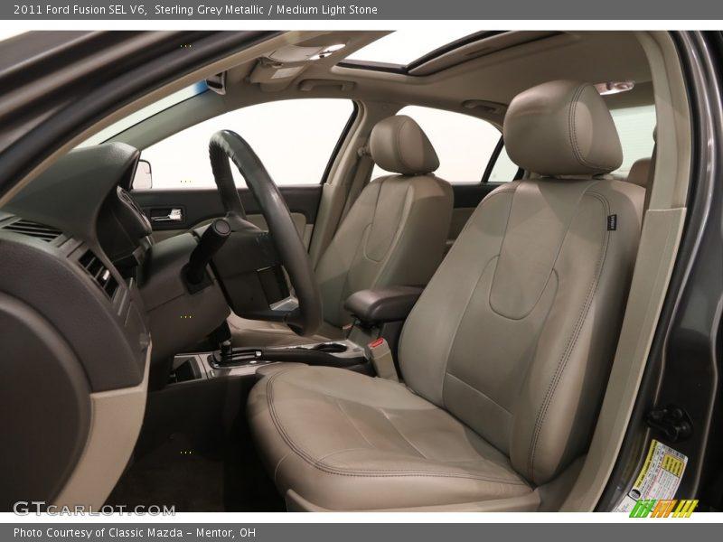 Sterling Grey Metallic / Medium Light Stone 2011 Ford Fusion SEL V6