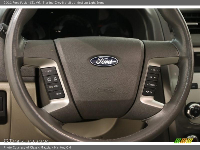 Sterling Grey Metallic / Medium Light Stone 2011 Ford Fusion SEL V6