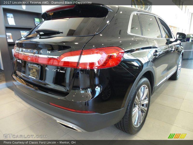Diamond Black / Cappuccino 2017 Lincoln MKX Reserve AWD