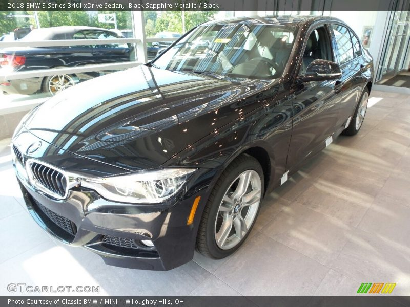 Black Sapphire Metallic / Black 2018 BMW 3 Series 340i xDrive Sedan
