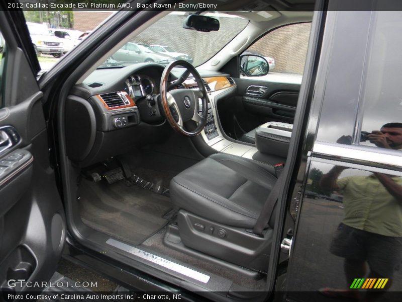 Black Raven / Ebony/Ebony 2012 Cadillac Escalade ESV Platinum AWD
