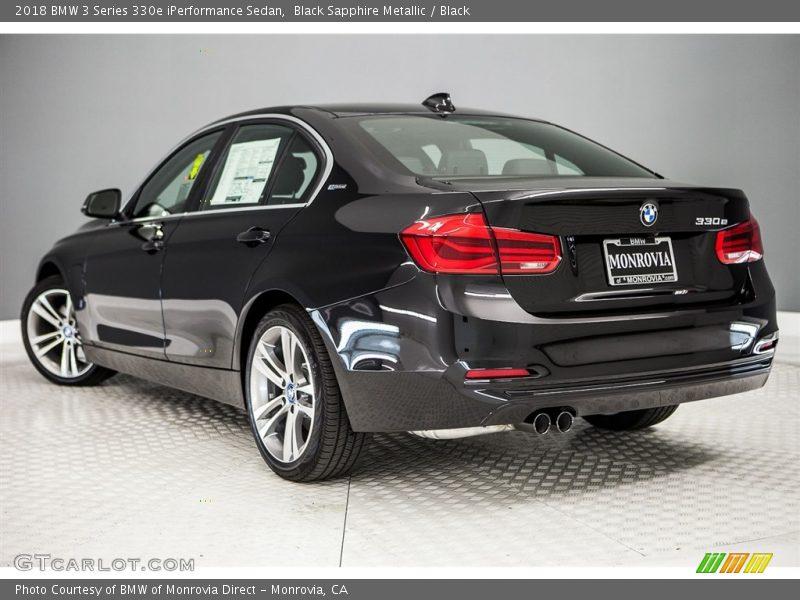 Black Sapphire Metallic / Black 2018 BMW 3 Series 330e iPerformance Sedan