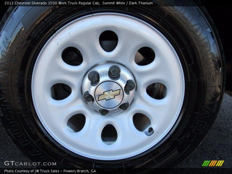 Summit White / Dark Titanium 2013 Chevrolet Silverado 1500 Work Truck Regular Cab