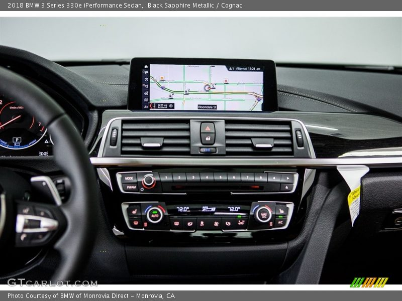 Controls of 2018 3 Series 330e iPerformance Sedan