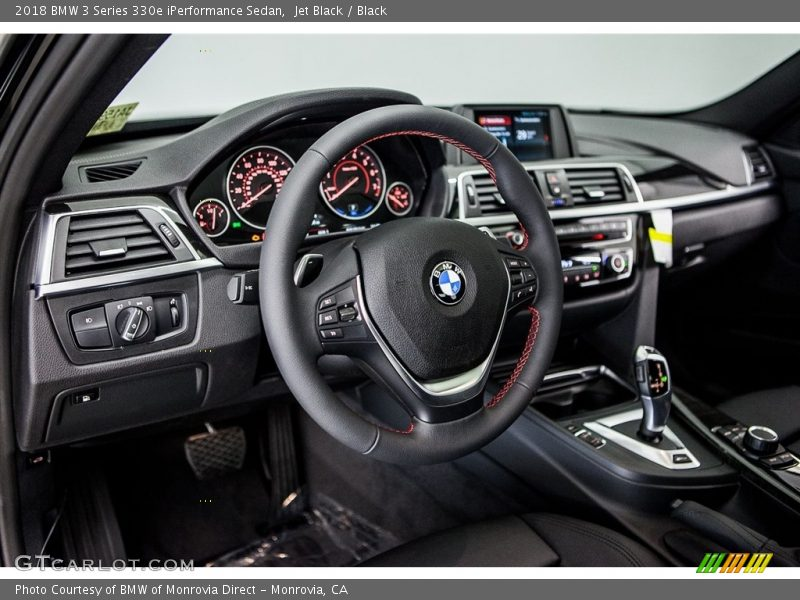 Jet Black / Black 2018 BMW 3 Series 330e iPerformance Sedan