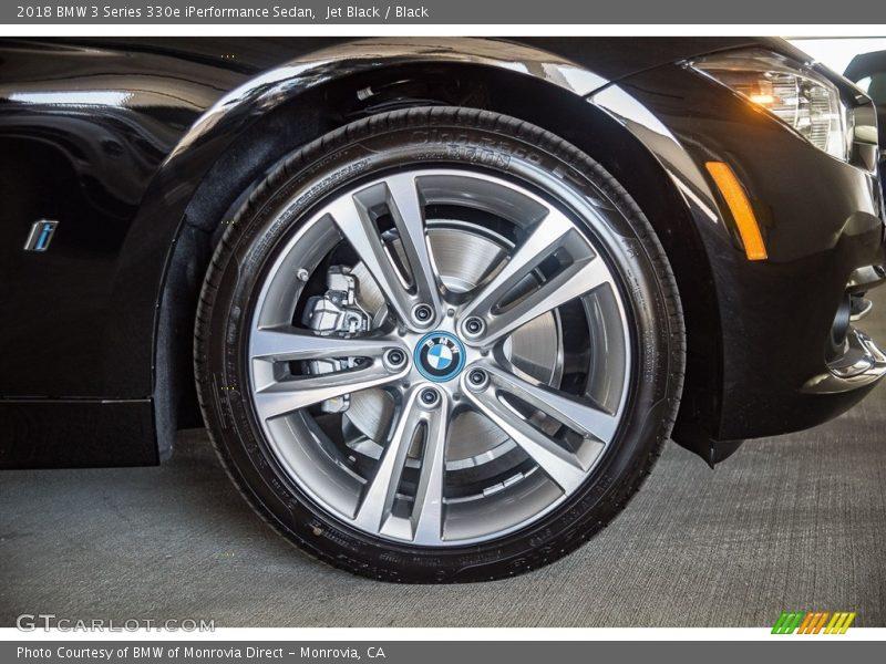 Jet Black / Black 2018 BMW 3 Series 330e iPerformance Sedan