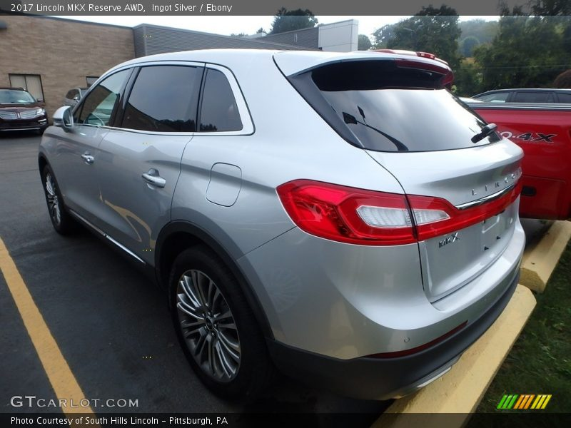 Ingot Silver / Ebony 2017 Lincoln MKX Reserve AWD