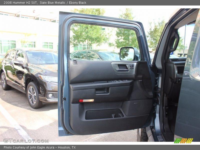 Slate Blue Metallic / Ebony Black 2008 Hummer H2 SUT