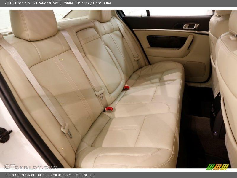 White Platinum / Light Dune 2013 Lincoln MKS EcoBoost AWD