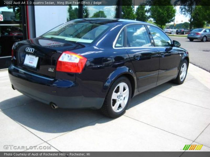 2002 audi a4 3 0 quattro sedan in ming blue pearl effect. Black Bedroom Furniture Sets. Home Design Ideas