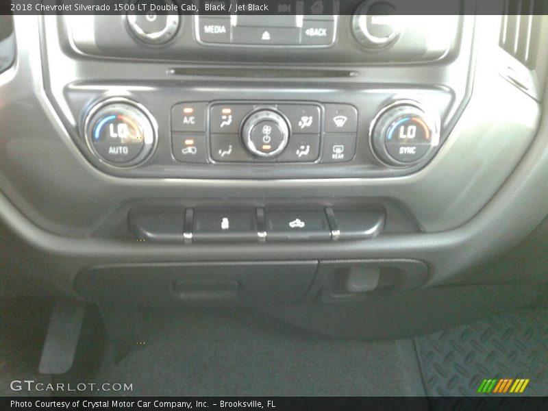 Black / Jet Black 2018 Chevrolet Silverado 1500 LT Double Cab