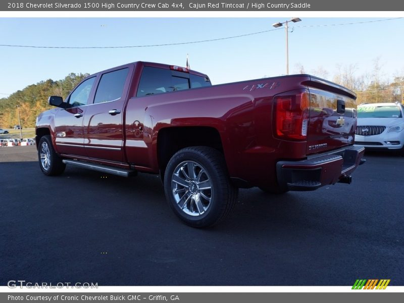 Cajun Red Tintcoat / High Country Saddle 2018 Chevrolet Silverado 1500 High Country Crew Cab 4x4