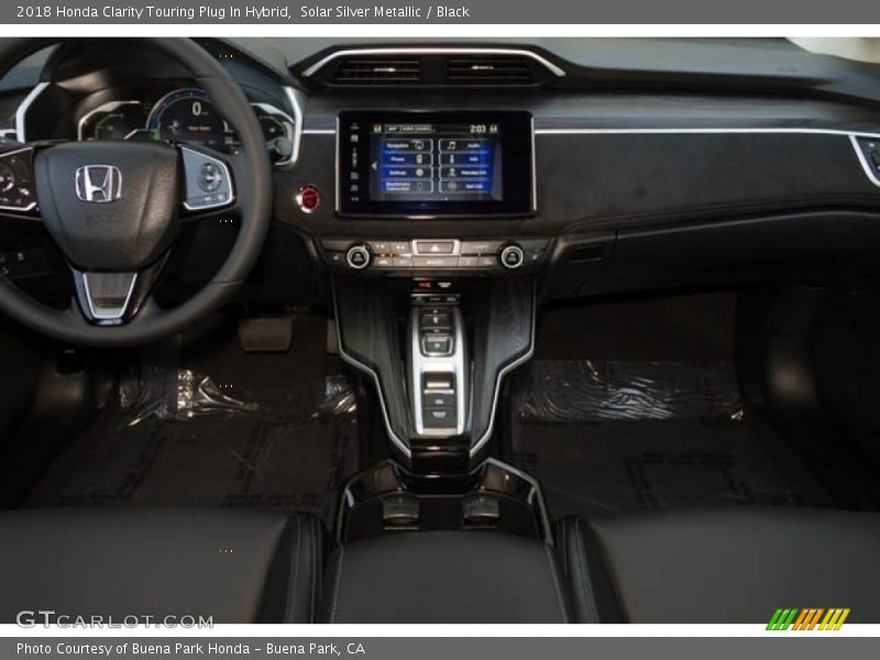 Dashboard of 2018 Clarity Touring Plug In Hybrid