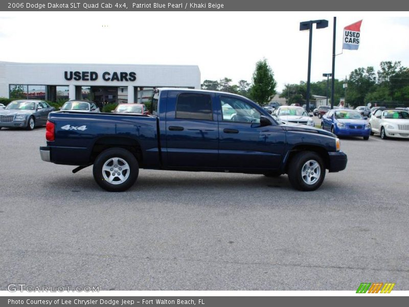 ... Blue Pearl / Khaki Beige 2006 Dodge Dakota SLT Quad Cab 4x4 Photo #17