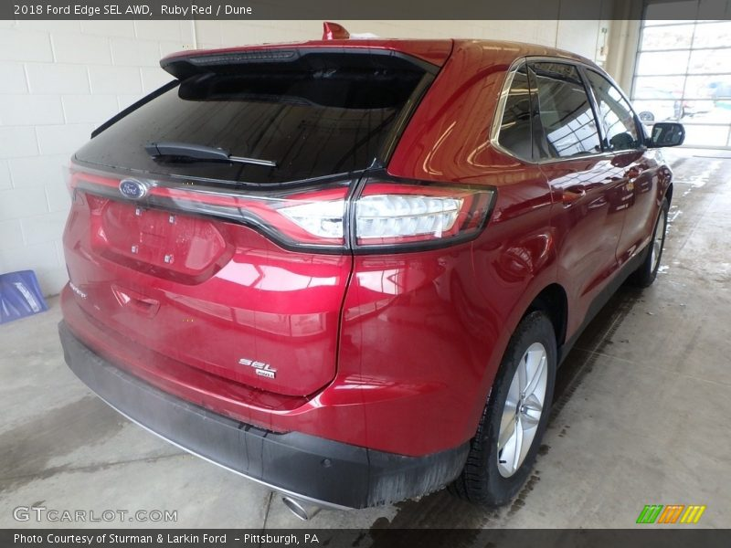 Ruby Red / Dune 2018 Ford Edge SEL AWD