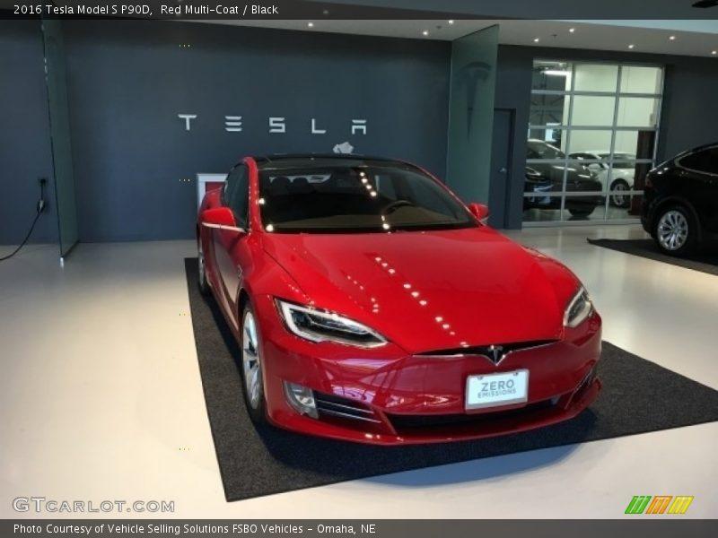 Red Multi-Coat / Black 2016 Tesla Model S P90D