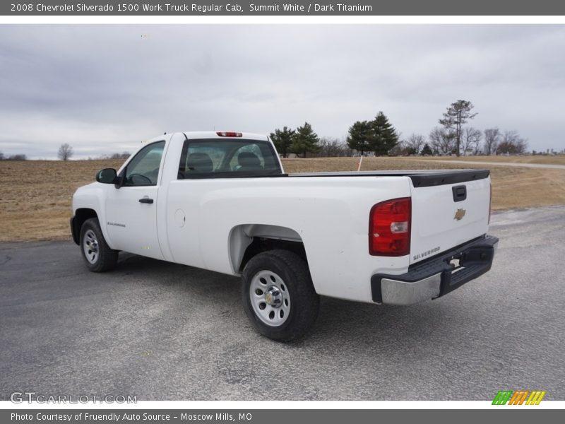 Summit White / Dark Titanium 2008 Chevrolet Silverado 1500 Work Truck Regular Cab