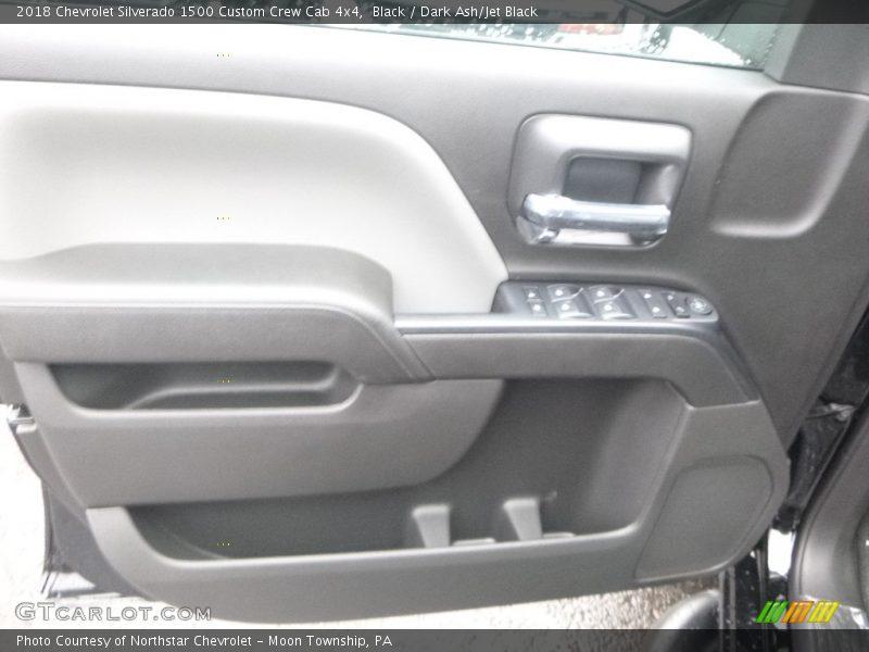 Black / Dark Ash/Jet Black 2018 Chevrolet Silverado 1500 Custom Crew Cab 4x4