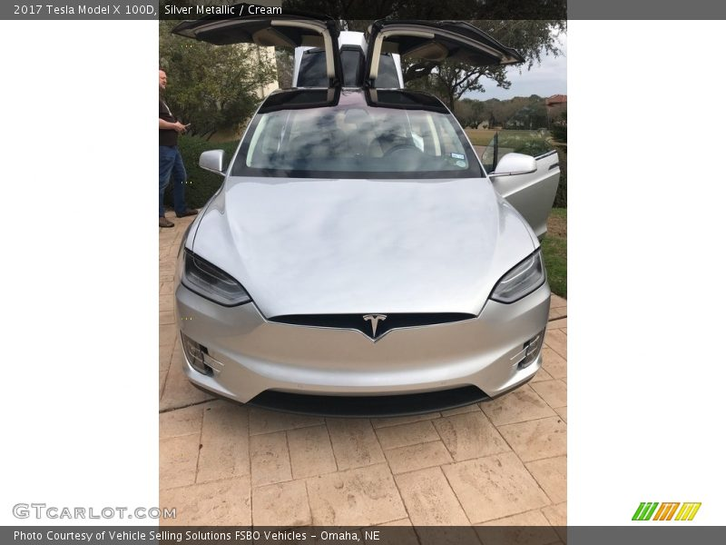 Silver Metallic / Cream 2017 Tesla Model X 100D