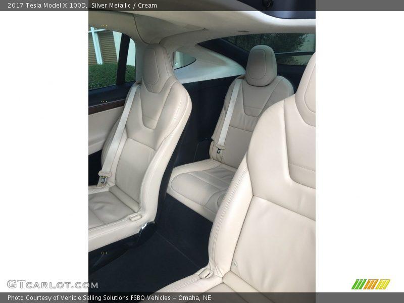 2017 Model X 100D Cream Interior