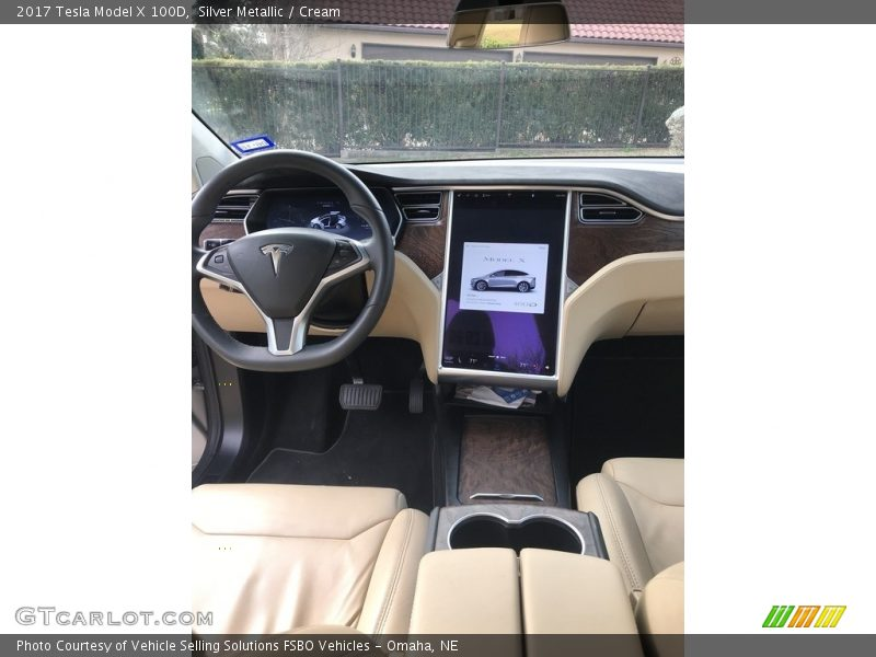 Dashboard of 2017 Model X 100D