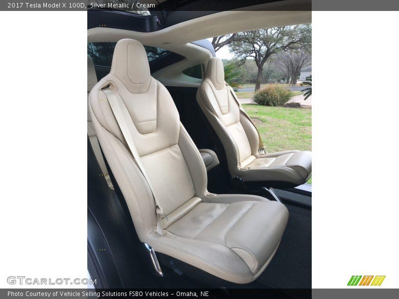 Rear Seat of 2017 Model X 100D