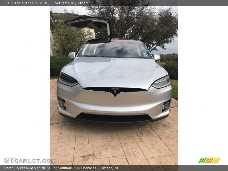 2017 Model X 100D Silver Metallic