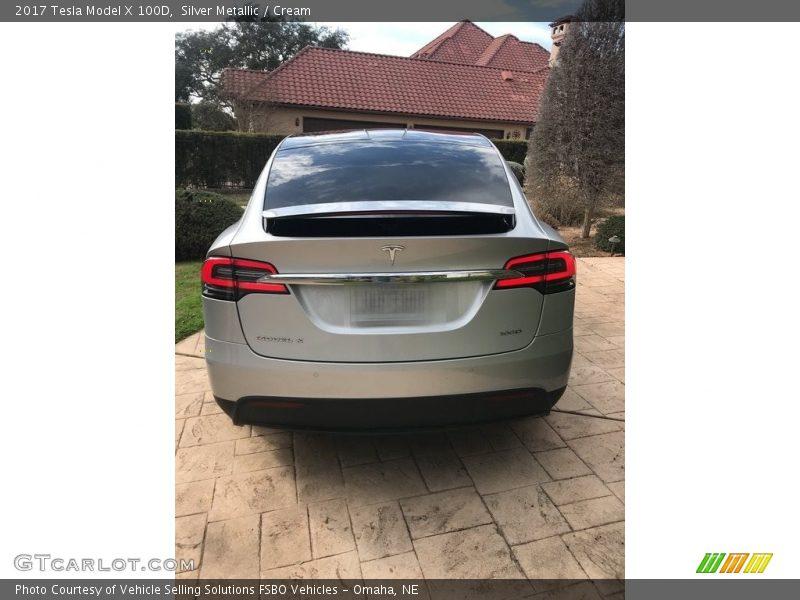 Silver Metallic / Cream 2017 Tesla Model X 100D