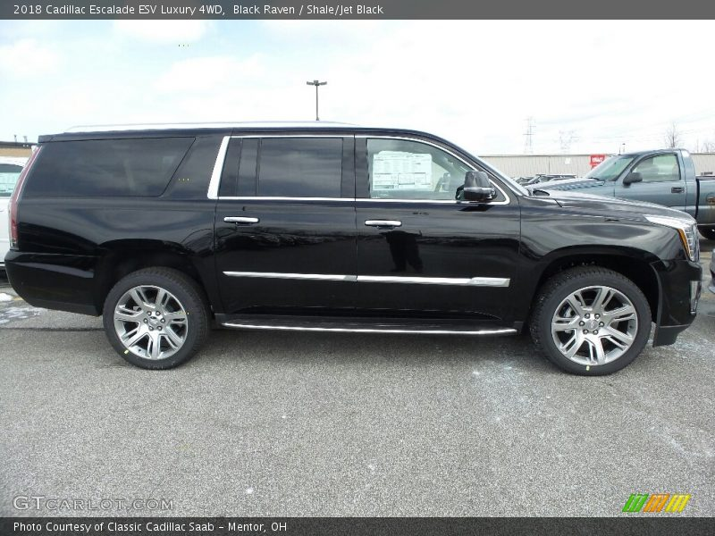 Black Raven / Shale/Jet Black 2018 Cadillac Escalade ESV Luxury 4WD
