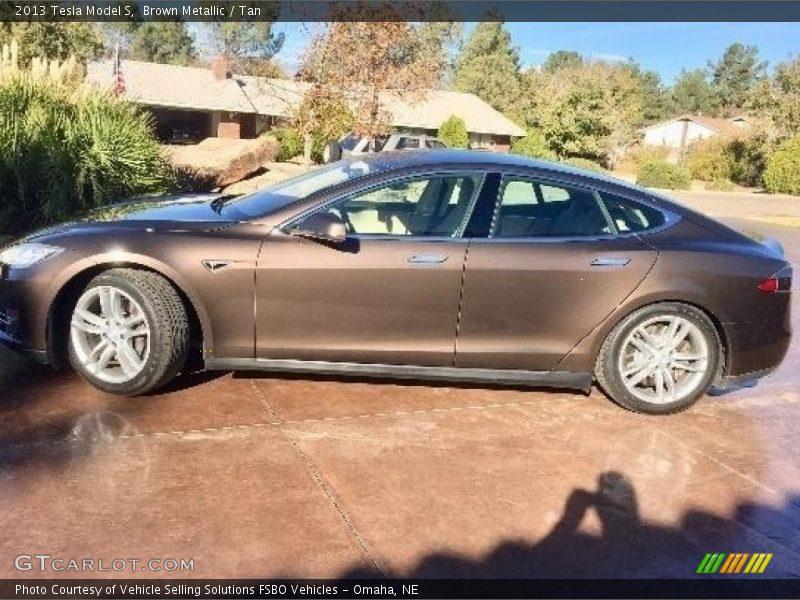 Brown Metallic / Tan 2013 Tesla Model S
