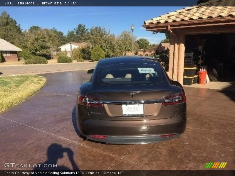 Brown Metallic / Tan 2013 Tesla Model S