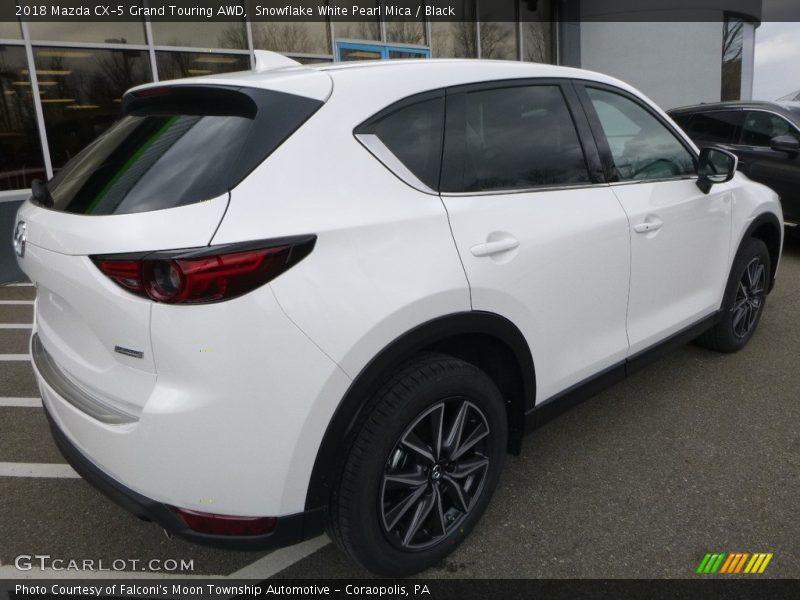 Snowflake White Pearl Mica / Black 2018 Mazda CX-5 Grand Touring AWD