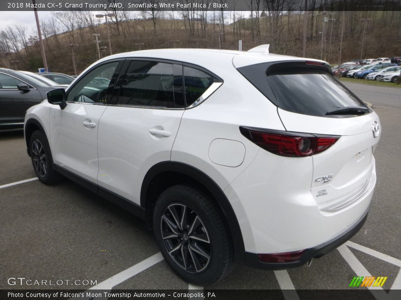 Snowflake White Pearl Mica / Black 2018 Mazda CX-5 Grand Touring AWD