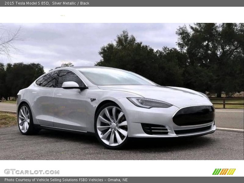 Silver Metallic / Black 2015 Tesla Model S 85D
