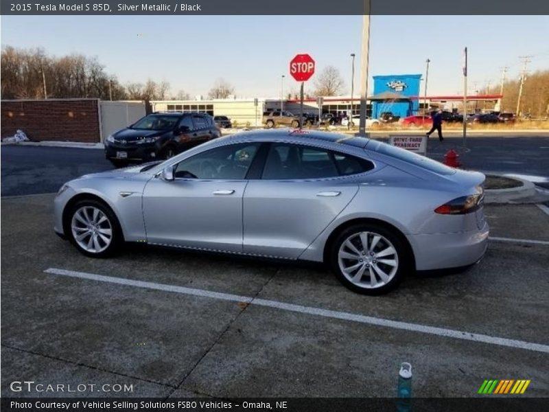 Silver Metallic / Black 2015 Tesla Model S 85D