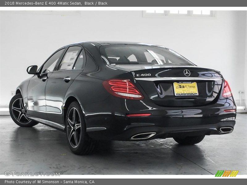 Black / Black 2018 Mercedes-Benz E 400 4Matic Sedan
