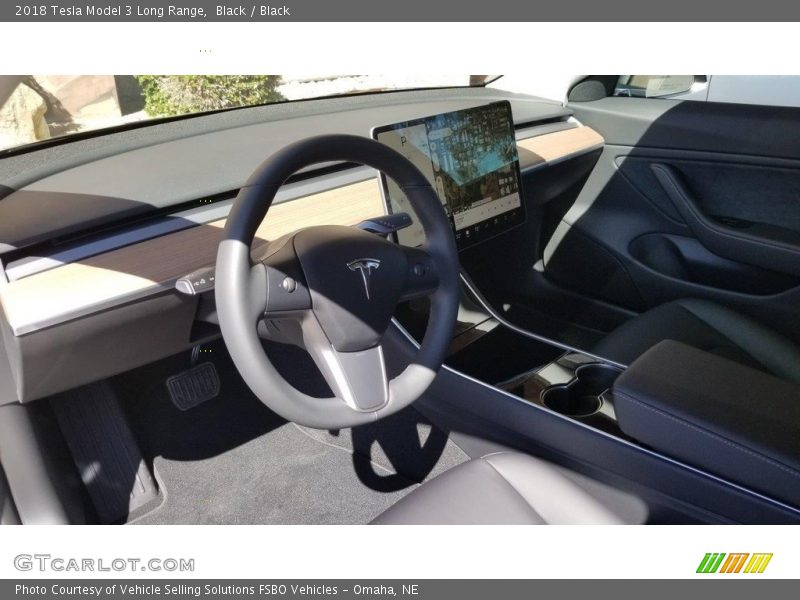 Front Seat of 2018 Model 3 Long Range
