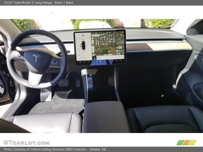 Dashboard of 2018 Model 3 Long Range