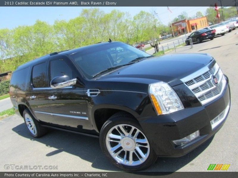 Black Raven / Ebony 2013 Cadillac Escalade ESV Platinum AWD