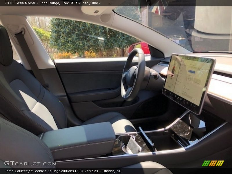 Front Seat of 2018 Model 3 Long Range