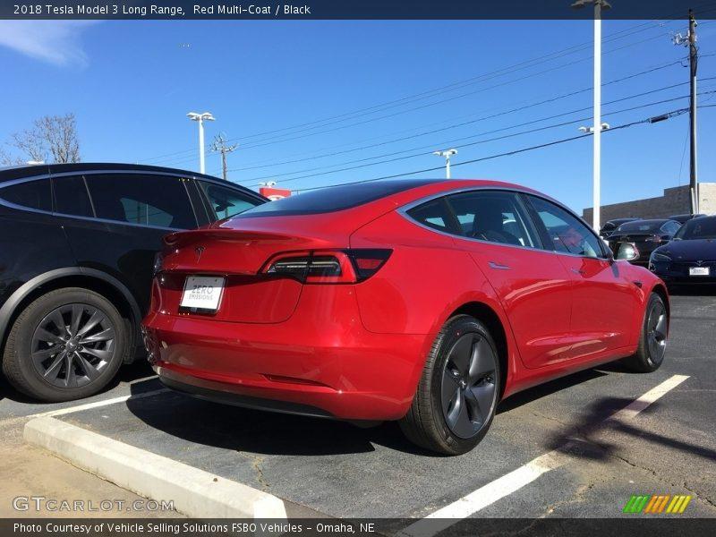 Red Multi-Coat / Black 2018 Tesla Model 3 Long Range