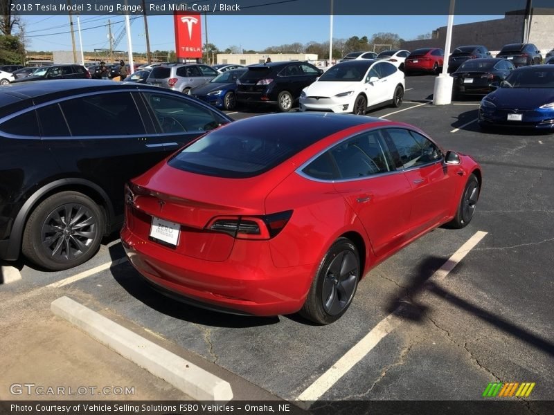 2018 Model 3 Long Range Red Multi-Coat