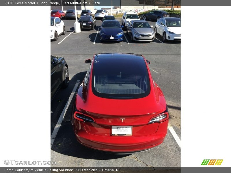 Red Multi-Coat / Black 2018 Tesla Model 3 Long Range