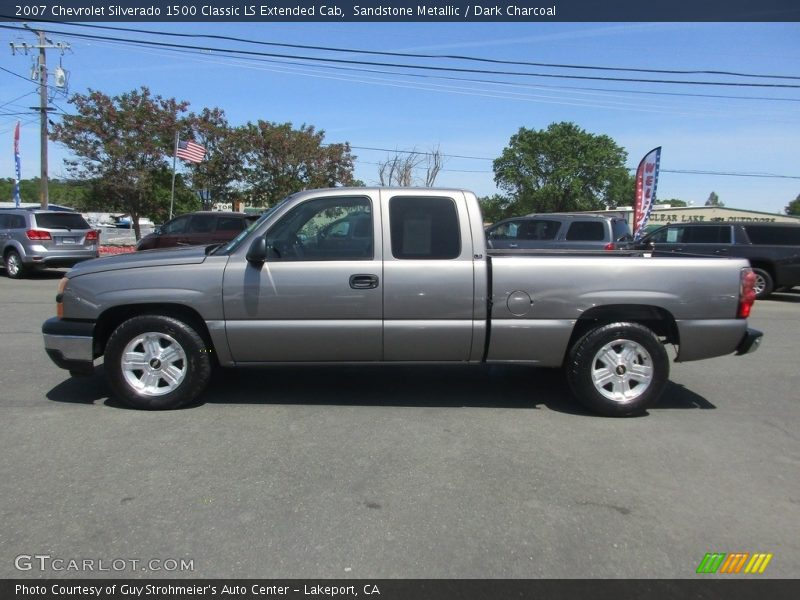Sandstone Metallic / Dark Charcoal 2007 Chevrolet Silverado 1500 Classic LS Extended Cab